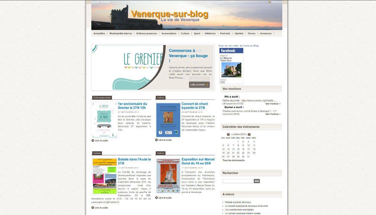 vue Blog de Venerque ancien site