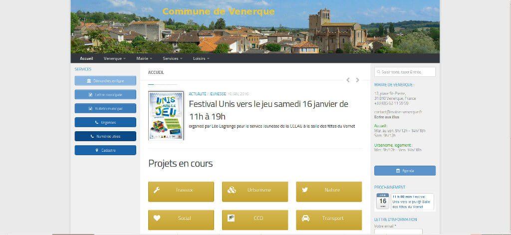 vue nouveau site mairie venerque