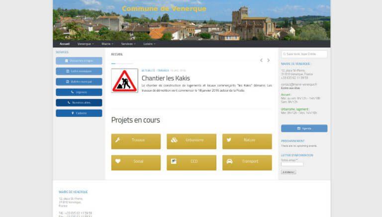 Vue nouveau site web Mairie Venerque