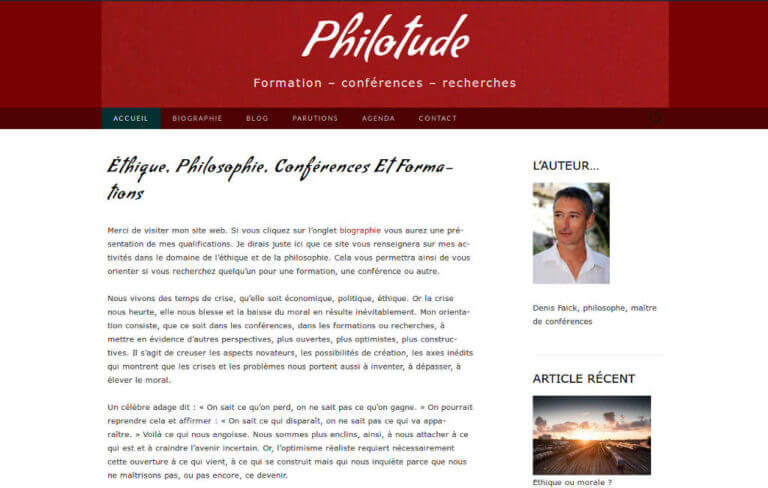 vue site web philotude