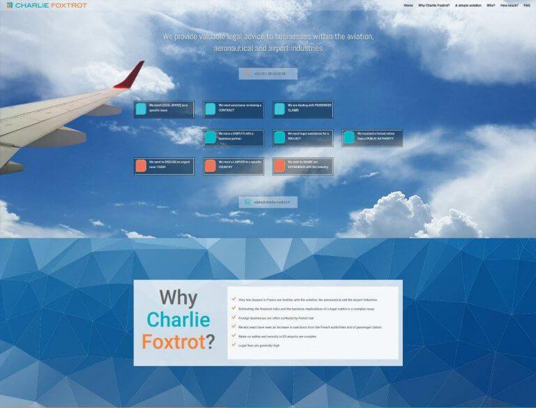 Vue site web application Charlie Foxtrot