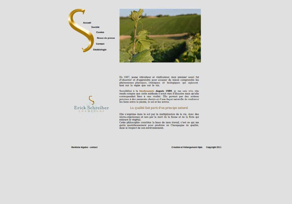 Capture Ancien Site Champagne Schreiber.fr