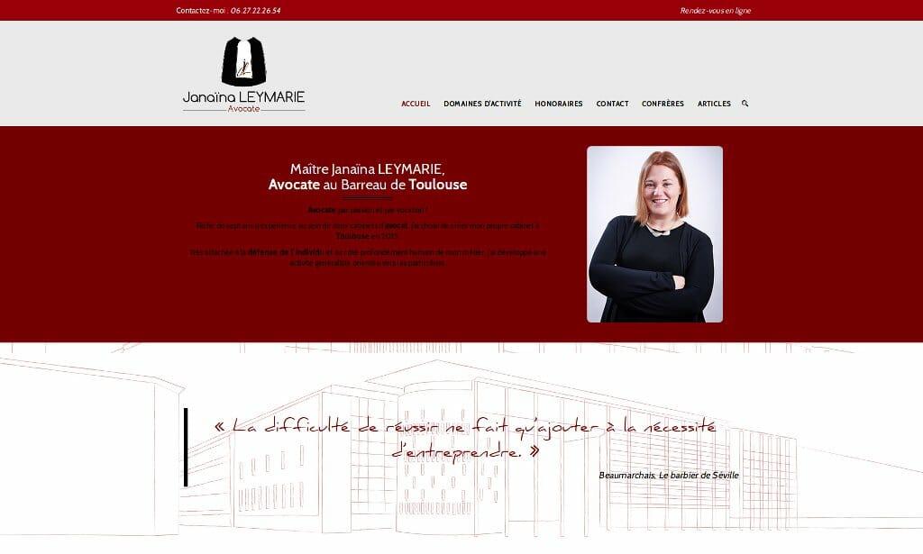 Site web Avocat Leymarie Toulouse