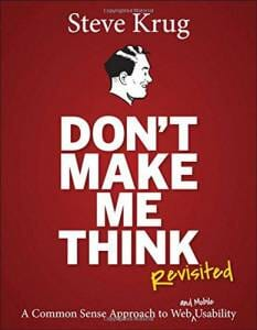 Couverture Don't Make Me Think de Steve Krug