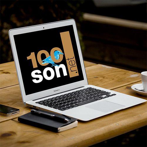 Portable avec vue logo 100son.net