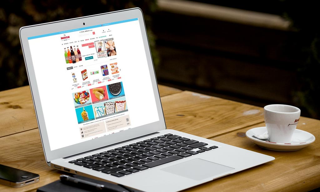 Portable avec vue site web My American Market