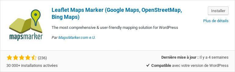 Extension Leaflet Maps Marker
