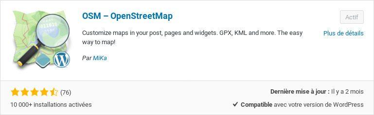 Extension OSM Openstreetmap