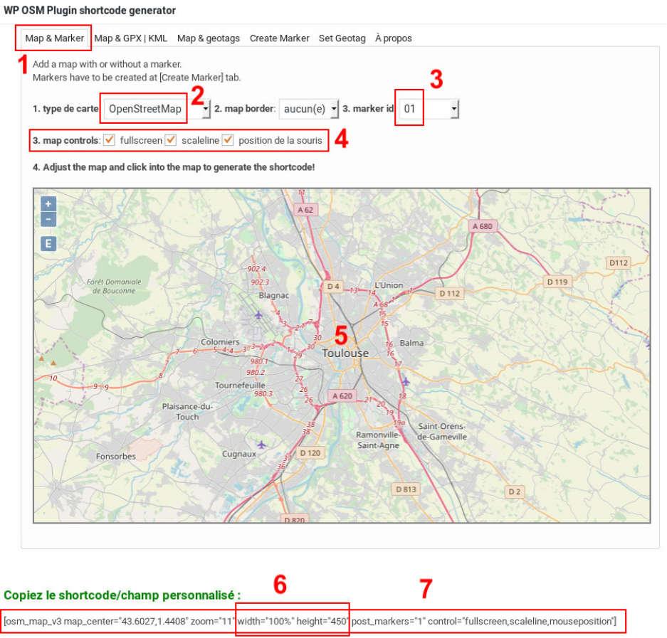 OSM créer une carte