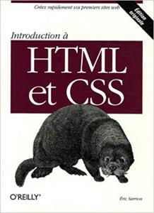 Couverture du livre Introduction à HTML et CSS d'Eric Sarrion.