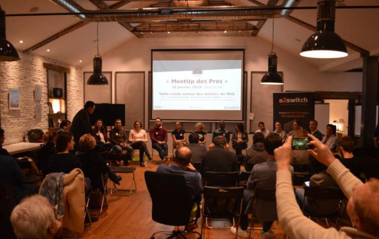Participants au MeetUp des Pros du Web.