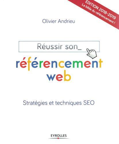 Couverture du livre Référencement Web, d'Olivier Andrieu.