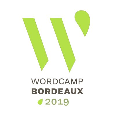 Logo du Wordcamp Bordeaux 2019.