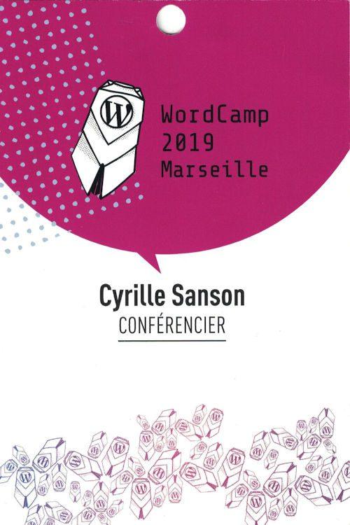 Badge Cyrille Sanson Conferencier 500