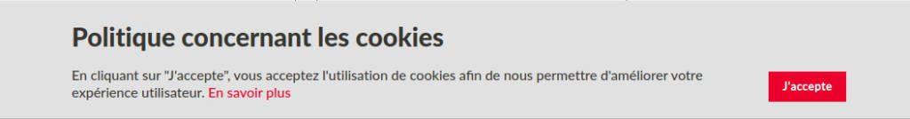 Banniere Cookie Accepte